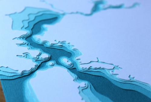 La topografía con papel de Marnie Karger
