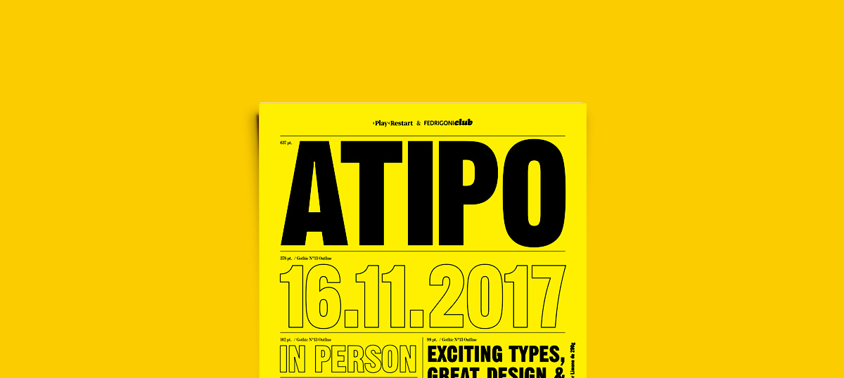 Atipo & Playrestart by Fedrigoni Club