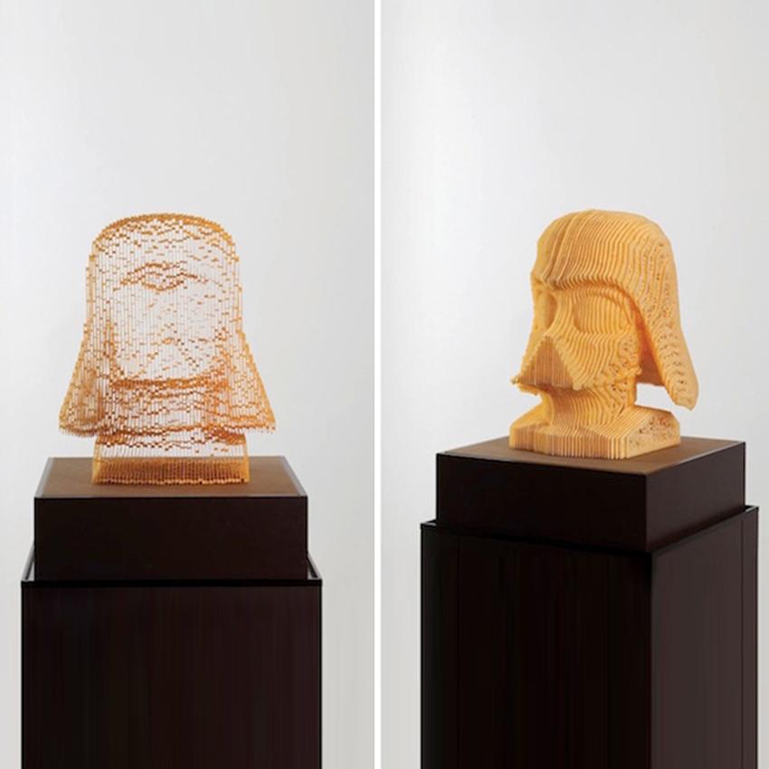 Esculturas de buen papel que desaparecen