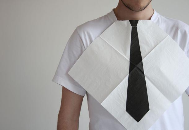 ¿Servilleta de papel o corbata? Un ingenioso diseño de Héctor SerranoGuardanapo de papel ou gravata? Um engenhoso design de Héctor Serrano