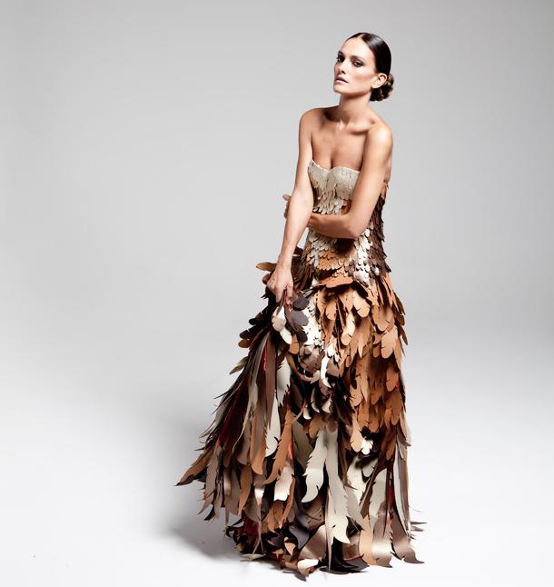 Alta costura para Laura Ponte con la gama Sirio Pearl de Fedrigoni y Wanda Barcelona