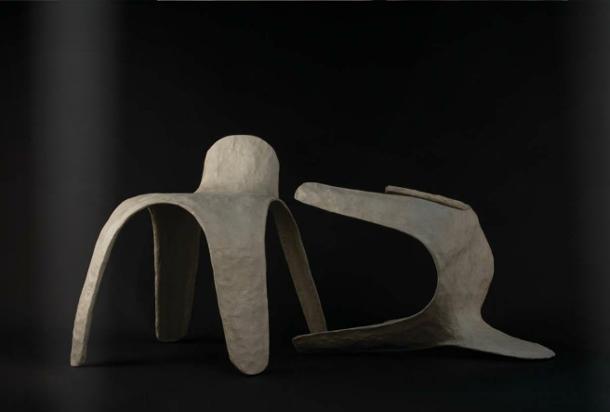 Una silla biodegradable elaborada en papel hanjiUma cadeira biodegradável elaborada em papel hanji