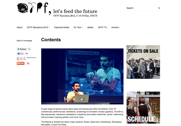 Fedrigoni colaborador oficial del OFFF 2012