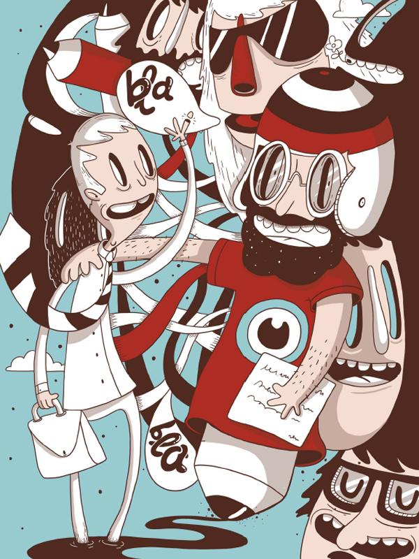 «180hilos», serigrafías de ilustradores edición limitada con papeles Fedrigoni