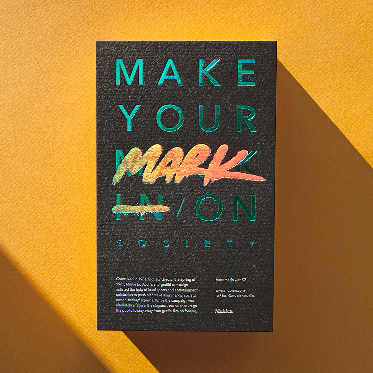 Make your mark on society