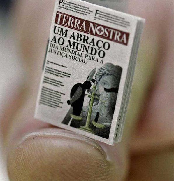 'Terra Nostra', el periódico más pequeño del mundo'Terra Nostra', o jornal mais pequeno do mundo