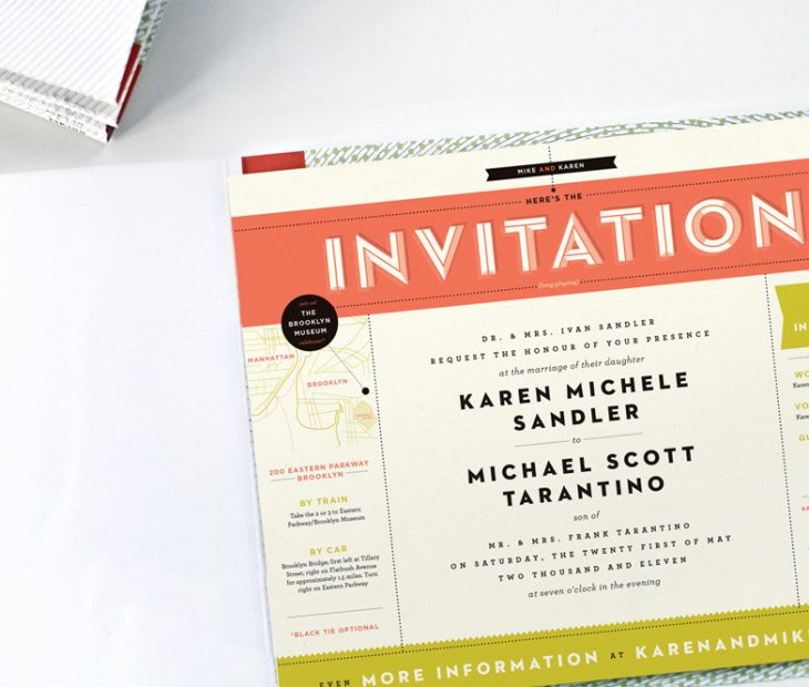 'A Paper Record Player', una invitación de boda vibrante y sonora'A Paper Record Player', um convite de casamento vibrante e sonoro