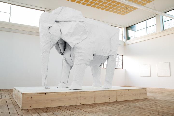 ¿Cómo se hace un elefante de Origami de una sola pieza de papel?