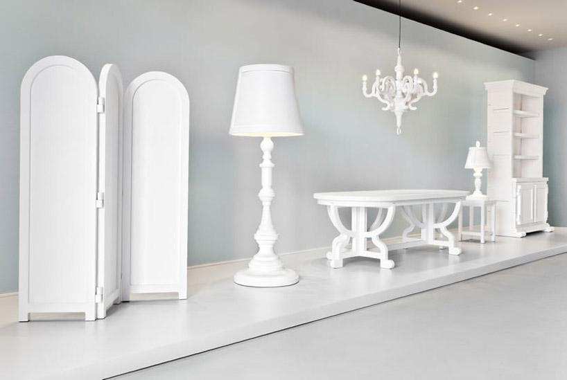 Elegantes muebles de papel