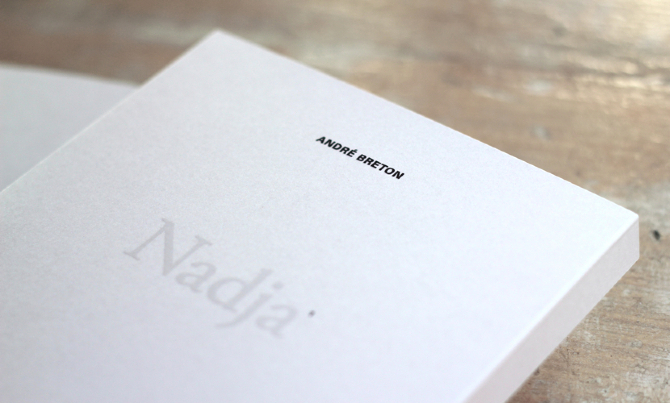 'Nadja', una historia de amor en París impresa sobre papel Fedrigoni