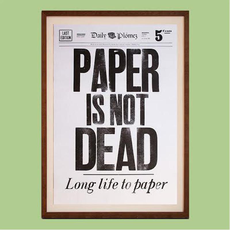 Elogio gamberro al plomo, la tinta y el papel