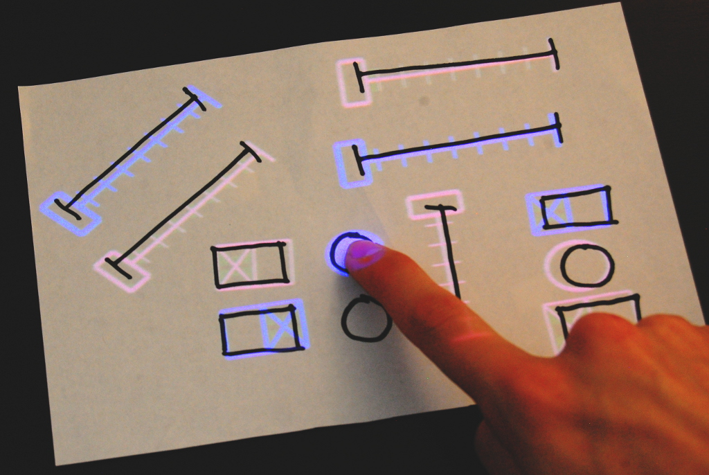 Controla la música desde un trozo de papel