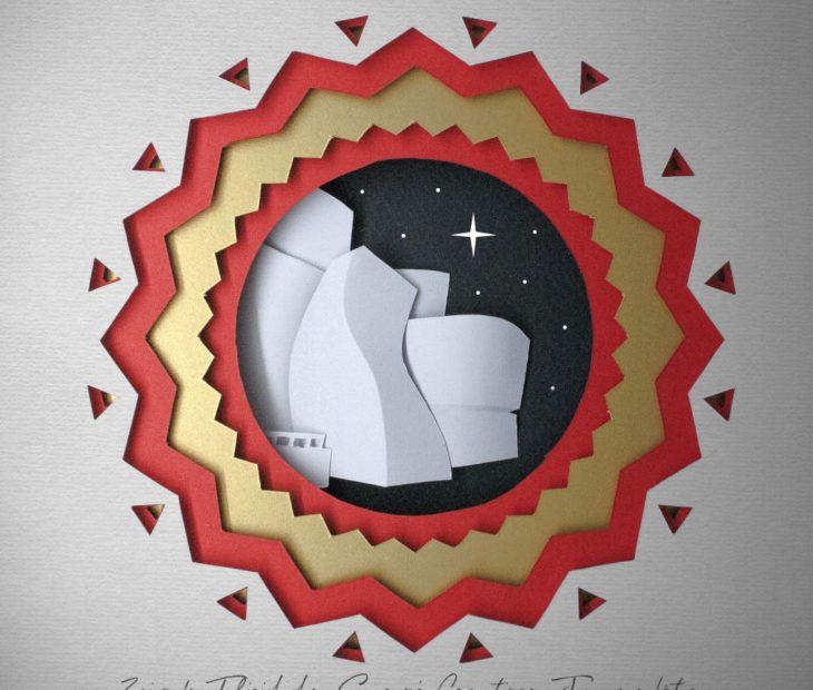 El Guggenheim, la Navidad y un festival de papel